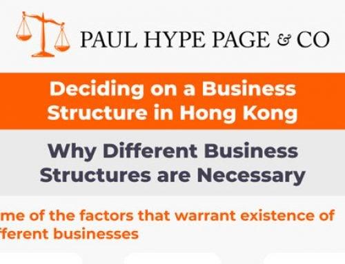 Deciding on a Hong Kong Business Structure