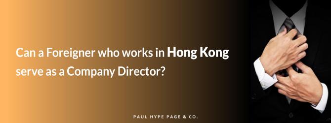 Foreigners as Hong Kong Company Directors