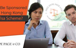 Sponsored Through the Hong Kong Dependant Visa Scheme