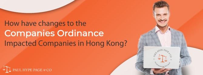 What had Companies Ordinance Impacted Companies in Hong Kong